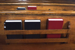 Pew books. Some books in a pew Royalty Free Stock Images