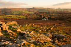 Pew Tor. View from Pew tor Dartmoor national park devon Uk Royalty Free Stock Photography