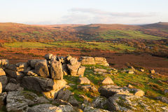 Pew Tor views. View from Pew tor Dartmoor national park Devon Uk Royalty Free Stock Photography