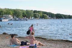Pewaukee Lake Park Royalty Free Stock Photography