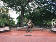 Pewny siebie, Brązowa statua uniwersytet Południowa Karolina ` s maskotka, obrazy stock