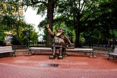 Pewny siebie, Brązowa statua uniwersytet Południowa Karolina ` s maskotka, obraz stock