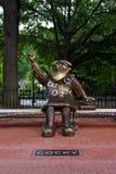 Pewny siebie, Brązowa statua uniwersytet Południowa Karolina ` s maskotka, zdjęcie stock