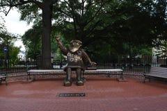 Pewny siebie, Brązowa statua uniwersytet Południowa Karolina ` s maskotka, obraz royalty free