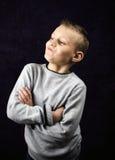 Pewny siebie chłopiec Obraz Stock