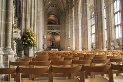 Pews in Canterbury cathedral Royalty Free Stock Image