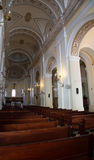 Pews Inside the Cathedral of Old San Juan Royalty Free Stock Photo