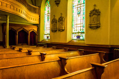 Pews in St. Peters Roman Catholic Church, in Harper's Ferry,  We Stock Photos