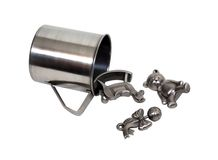 Pewter baby toys Royalty Free Stock Photo