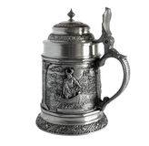 Pewter beer tankard Stock Photography