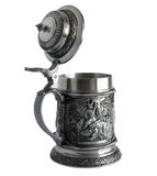 Pewter beer tankard Stock Images