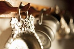 Pewter dishes Stock Photography