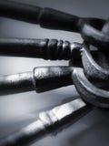 pewter för 2 antik tangenter Fotografering för Bildbyråer