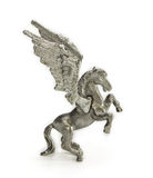 Pewter figurine of Pegasus Royalty Free Stock Photography