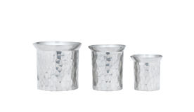 Pewter jars Stock Image