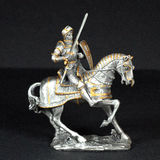Pewter Knight Stock Image