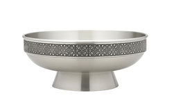 Pewter salad bowl Royalty Free Stock Images