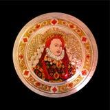 Pewter sztuki portret królowa Elizabeth Tudor obrazy royalty free