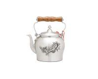 Pewter teapot Stock Photo