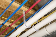 PEX and drain pipes Royalty Free Stock Images