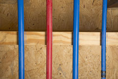 PEX pipes in basement Royalty Free Stock Photo