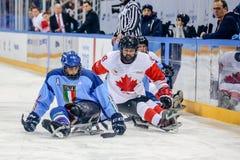 Peyongchang 11-ое марта 2018 Игры Paralympic в Южной Корее - s стоковое изображение rf