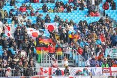 Peyongchang 2018 10 mars Jeux de Paralympic en Corée du Sud - J photographie stock libre de droits