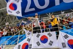 Peyongchang 2018 mars 11th Paralympic lekar i Sydkorea - C Fotografering för Bildbyråer