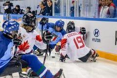 Peyongchang 2018 11th mars Paralympic lekar i Sydkorea - S Royaltyfri Foto