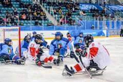 Peyongchang 2018 11th mars Paralympic lekar i Sydkorea - S Fotografering för Bildbyråer