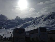 Peyragude покрыло с снегом Стоковое Фото