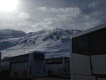 Peyragude покрыло с снегом Стоковая Фотография