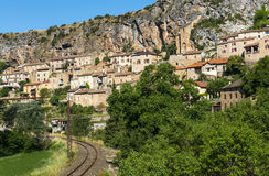 Peyre, vieux village près de Millau images libres de droits