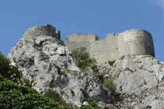 Peyrepertuse城堡  免版税库存图片