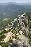 Peyrepertuse castle Royalty Free Stock Photo