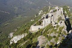Peyrepertuse castle Stock Photo