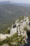 Peyrepertuse castle landscape Stock Image