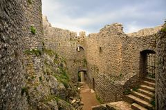 Peyrepertuse cathar castle Stock Photography