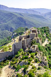 Peyrepertuse cathar castle Stock Photos