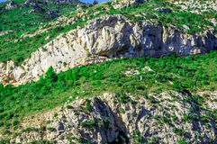 Peyrepertuse cathar castle Royalty Free Stock Images