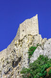 Peyrepertuse cathar castle Royalty Free Stock Photography