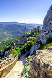 Peyrepertuse cathar castle Royalty Free Stock Photos