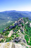 Peyrepertuse cathar castle Stock Images