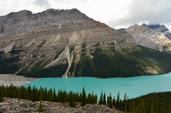 Cloudy Peyto Lake 12 royalty free stock photography