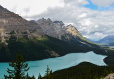 Cloudy Peyto Lake 2 stock photo