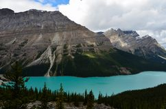 Cloudy Peyto Lake 7 stock photography
