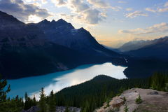 Peyto Lake. Moraine lake at Banff national park, Canada Royalty Free Stock Photography