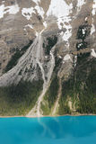 Peyto lake and mountain slope Royalty Free Stock Photography