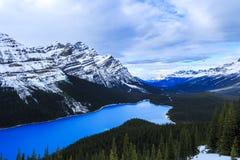 Peytomeer in Banff, Alberta stock afbeelding