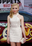 Peyton List. At the Los Angeles premiere of Muppets Most Wanted held at the El Capitan Theatre in Los Angeles, United States, 110314 Stock Image